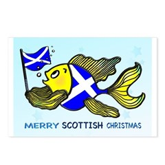 MERRY SCOTTISH CHRISTMAS Postcards (Package of 8)