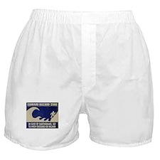 """TSUNAMI WARNING"" Boxer Shorts"