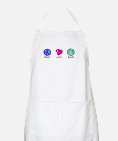 Peace Love and Earth BBQ Apron