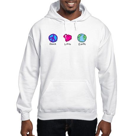 Peace Love and Earth Hooded Sweatshirt