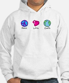 Peace Love and Earth Jumper Hoody