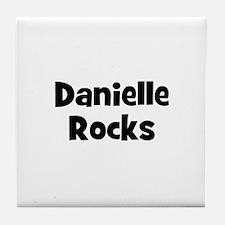 Danielle Rocks Tile Coaster