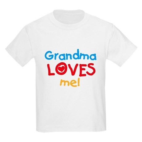 Grandma Loves Me Kids T-Shirt