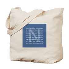 Narcolepsy Opinions Tote Bag