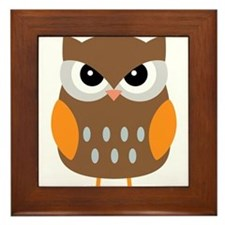 Cute Owl Framed Tile