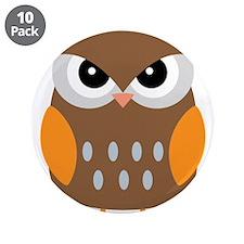 "Cute Owl 3.5"" Button (10 pack)"