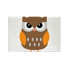 Cute Owl Rectangle Magnet (100 pack)