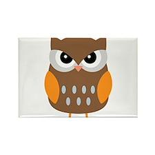 Cute Owl Rectangle Magnet