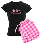 Owl In Love With You Women's Dark Pajamas