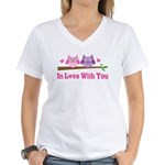 Owl In Love With You Women's V-Neck T-Shirt