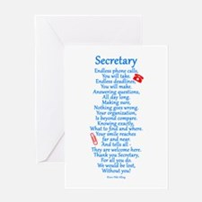 Secretary Thank You Greeting Card