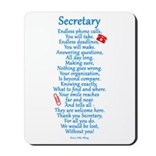 Secretary Thank You Mousepad