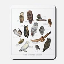 Owls of North America Mousepad