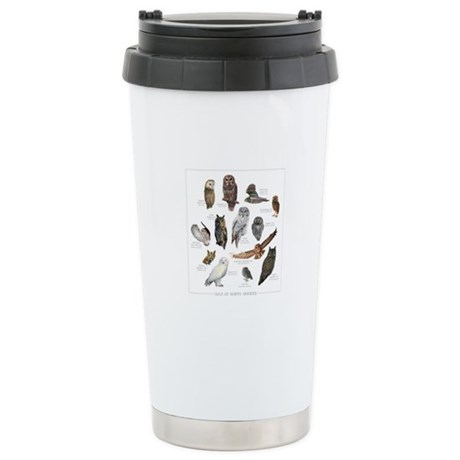 Owls of North America Stainless Steel Travel Mug