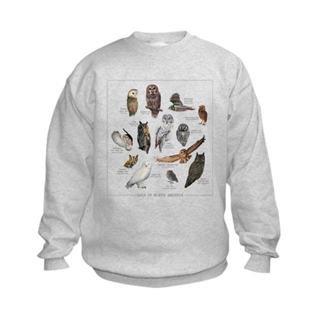 Owls of North America Kids Sweatshirt