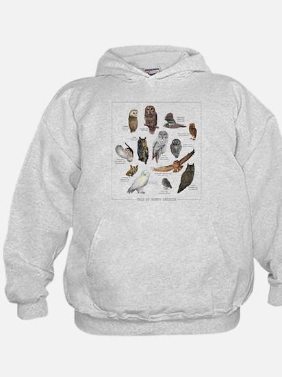 Owls of North America Hoody
