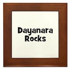 Dayanara Rocks Framed Tile