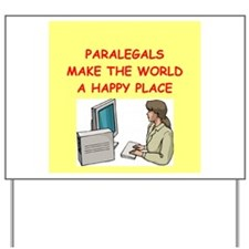 paralegal Yard Sign