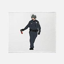 Casual Pepper Spray Cop Throw Blanket