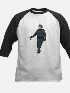Casual Pepper Spray Cop Kids Baseball Jersey