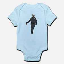 Casual Pepper Spray Cop Infant Bodysuit