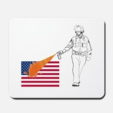 Casual Pepper Spray Cop Mousepad