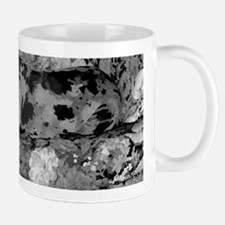 Great Dane Merle Painting in Black and White Mug