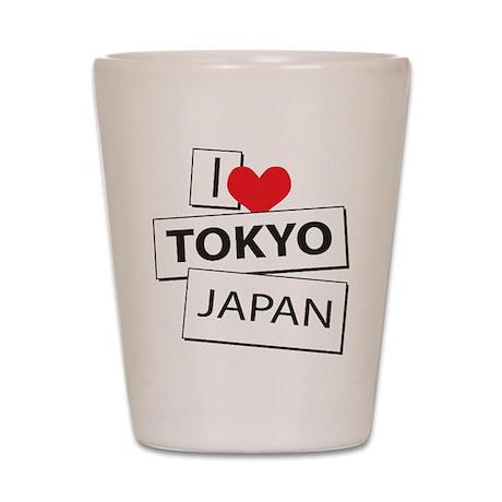 I Love Tokyo Japan Shot Glass