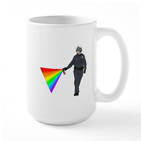 Casual Pepper Spray Cop Large Mug
