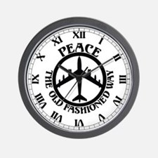 B-47 Peace The Old Fashioned Way Wall Clock