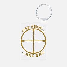 Sniper One Shot...One Kill Keychains