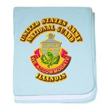 Army National Guard - Illinois baby blanket