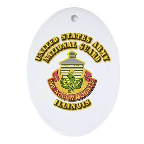Army National Guard - Illinois Ornament (Oval)