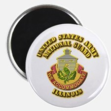"""Army National Guard - Illinois 2.25"""" Magnet (100 p"""