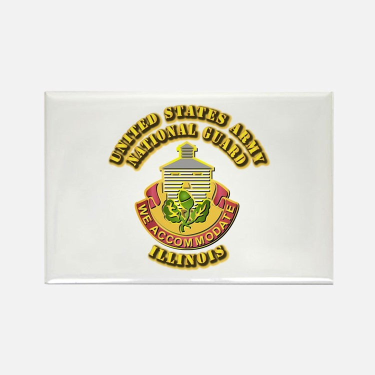 Army National Guard - Illinois Rectangle Magnet