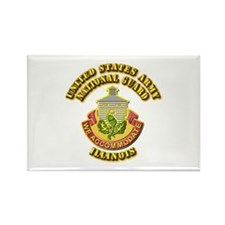 Army National Guard - Illinois Rectangle Magnet (1