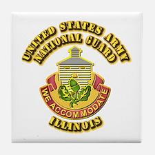 Army National Guard - Illinois Tile Coaster