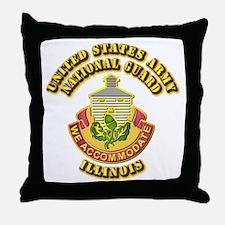 Army National Guard - Illinois Throw Pillow