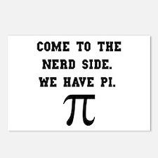 Nerd Side Pi Postcards (Package of 8)