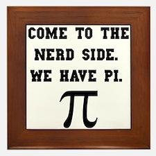 Nerd Side Pi Framed Tile