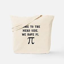 Nerd Side Pi Tote Bag