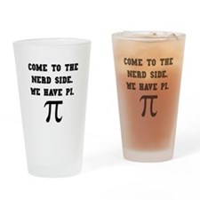 Nerd Side Pi Drinking Glass