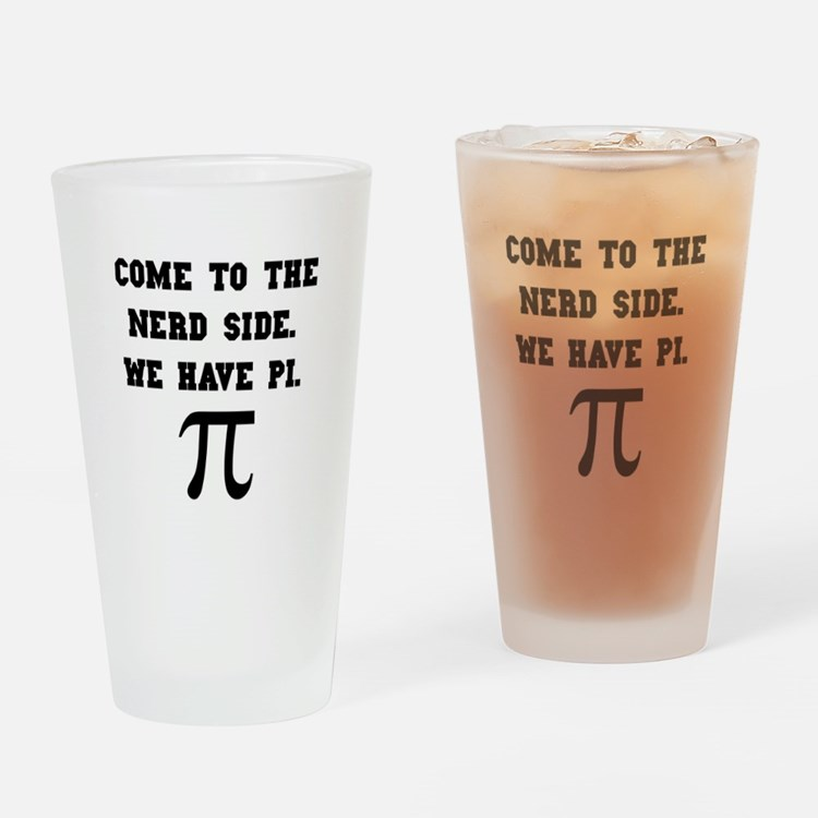 Nerd Side Pi Drinking Glass
