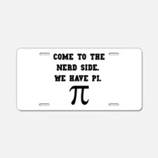 Nerd Side Pi Aluminum License Plate