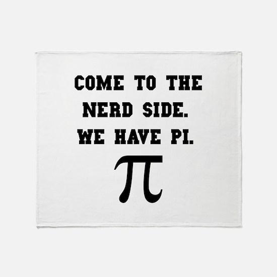 Nerd Side Pi Throw Blanket