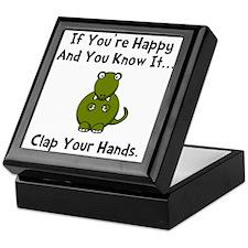 TRex Clap Keepsake Box