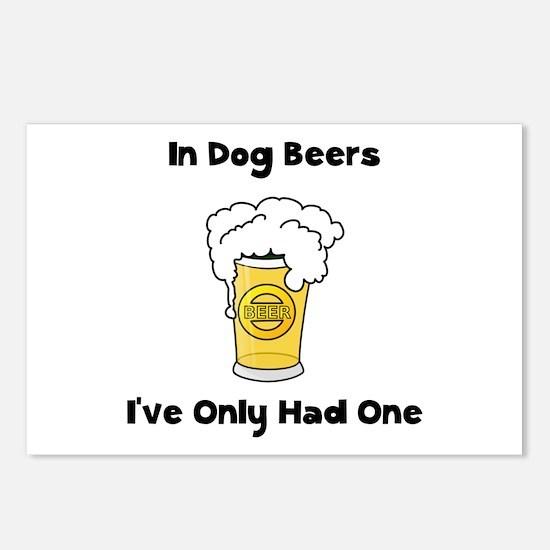 Dog Beers Postcards (Package of 8)