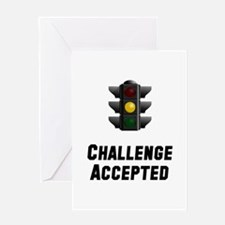 Challenge Accepted Light Greeting Card