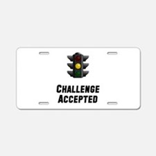 Challenge Accepted Light Aluminum License Plate