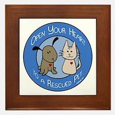 Open Your Heart - Rescued Pet Framed Tile